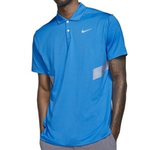 Nike Dri Fit Vapor Reflective Blue Golf Polo Shirt
